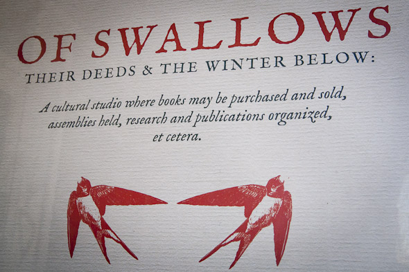 Of Swallows Bookstore