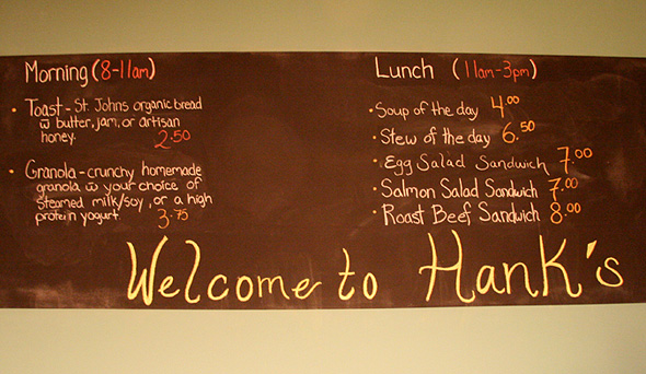 Hank's Food Menu