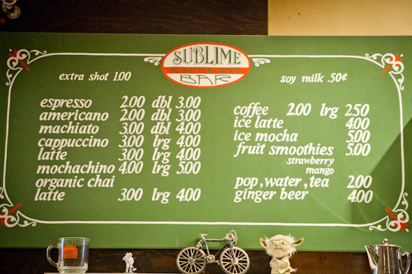 Sublime Cafe Toronto