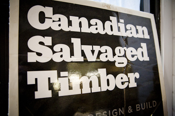 Canadian Salvaged Timber