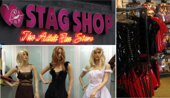 The Stag Shop carries an array of adult novelties and toys, ...