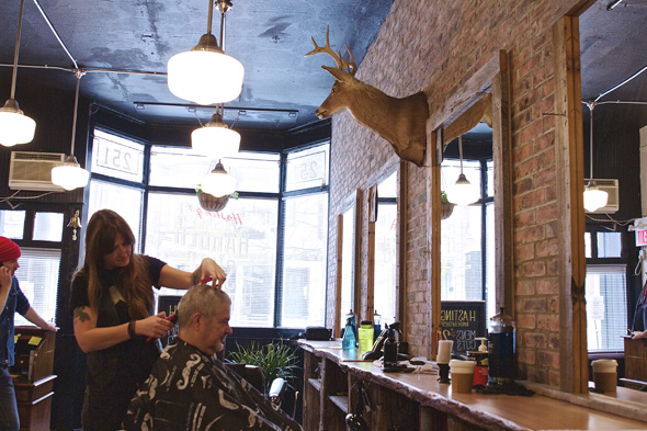Barber Shop Forest Hills : Hastings Barber Shop has doubled. And they brought the taxidermied ...