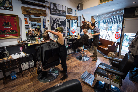 James started apprenticing with another barber, and decided he wanted ...
