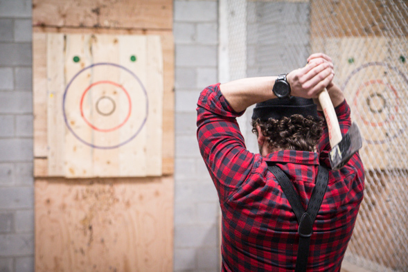 Backyard Axe Throwing League Toronto