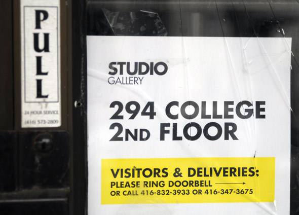 Studio gallery Sign