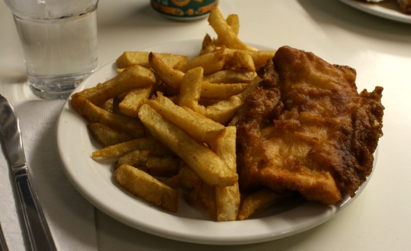 Fish & chips at Penrose