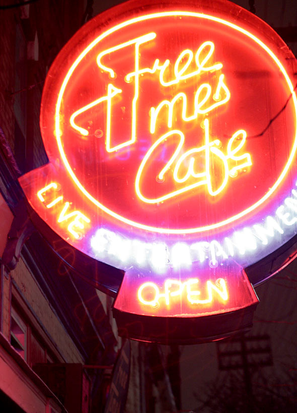 Free Times Cafe on College St in Toronto