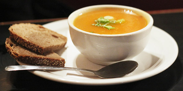 Ginger, carrot & sweet potato soup!