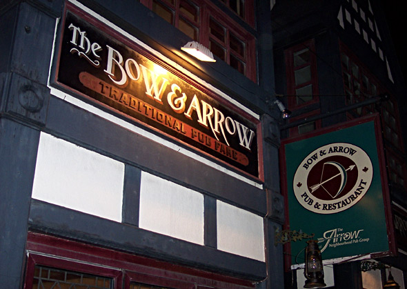 The Bow & Arrow sign