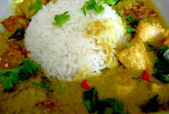 Coconut Cream Curry with Tofu