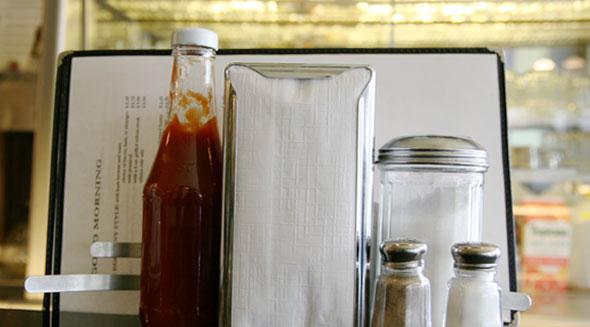 Napkins and Ketchup