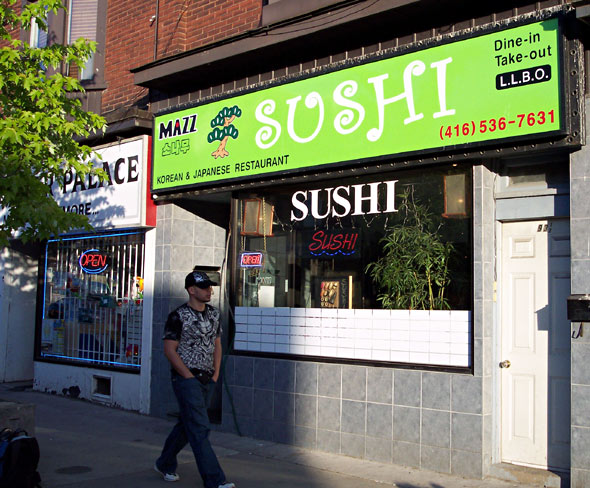 Mazz Sush on Bloor St West at Dovercourt