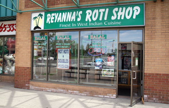 Reyanna's Roti Shop Sign
