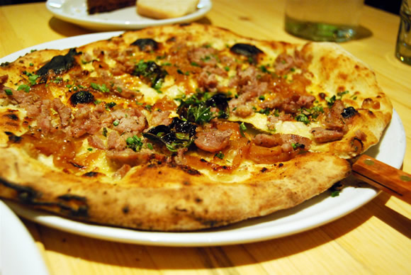Pizzeria Libretto Sausage and Caramelized Onion Pizza