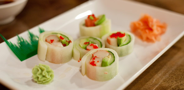 Kamisu salad rolls at Sushi 101