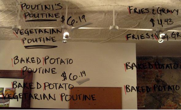 poutini's menu