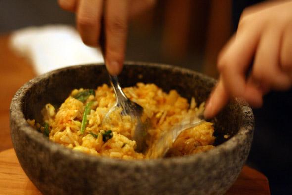 Buta kimchi bibimbap