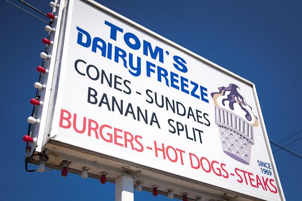 toms dairy freeze