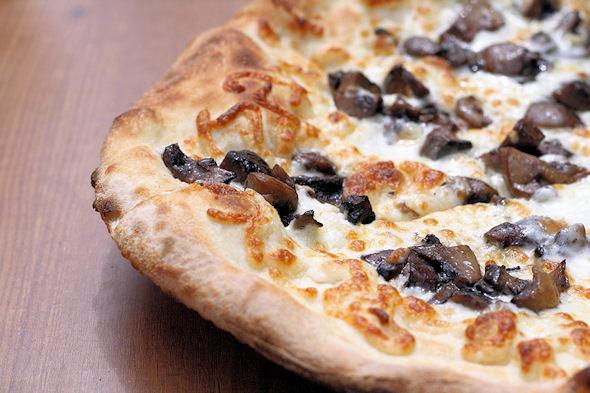 Mushroom Pizza, three mushroom
