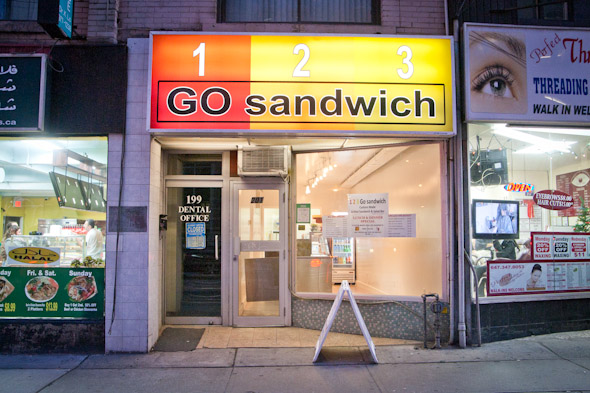 123 Go Sandwich serves up grilled sandwiches and salad to the lunch ...