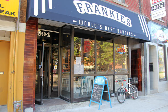frankies burgers toronto