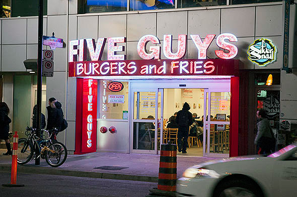 five guys burger fries yonge toronto