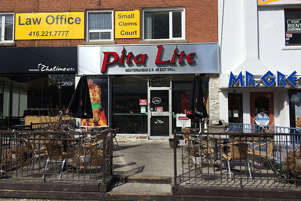 Pita lite for Anoush middle eastern cuisine north york