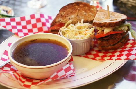 Church Club Sandwich with Soup
