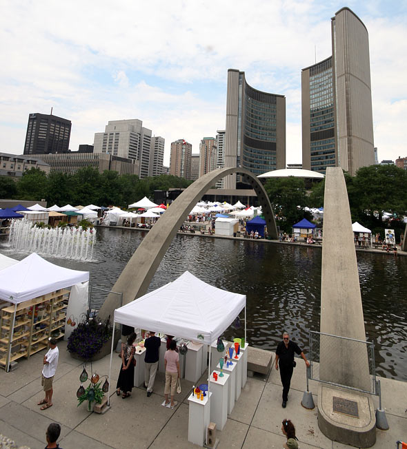 Toronto Outdoor Art Exhibition at Nathan Phillips Square