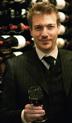 Steve Doss, in the wine cellar at the Windsor Arms Hotel