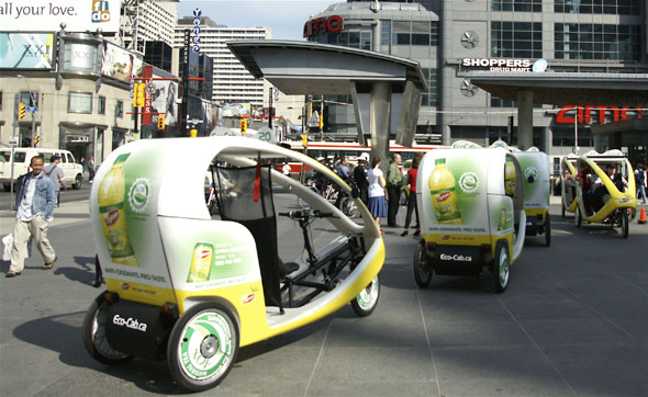 EcoCabs in Yonge-Dundas Square