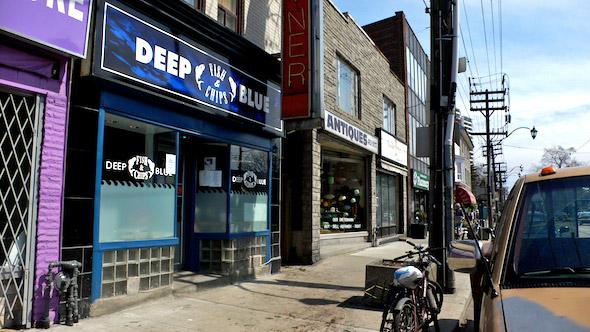 Deep Blue Storefront
