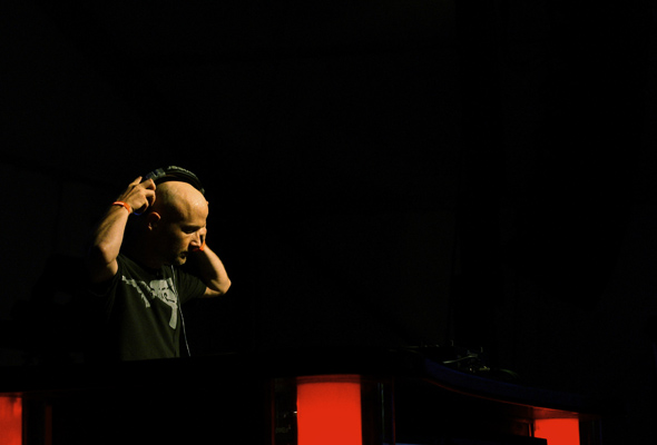 Moby doing a DJ set at the Bacardi B-Live Tent at the Virgin Music Festival in Toronto