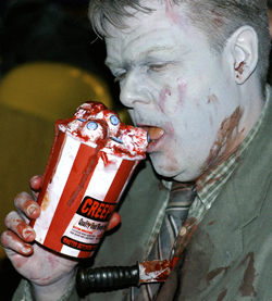 Toronto Zombie Walk 2008 at The Bloor Cinema with zombie food