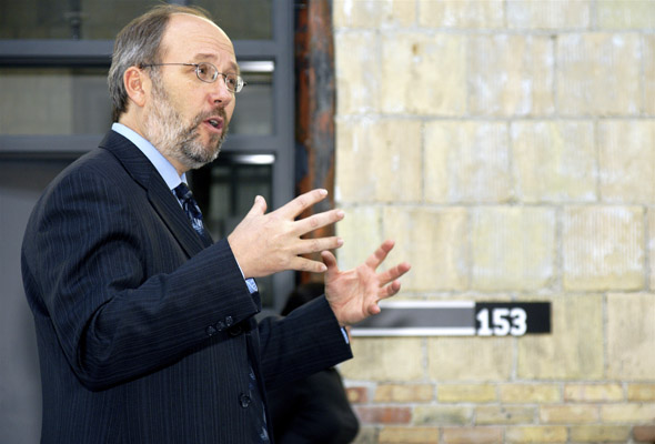 Artscape Wychwood Barns opening, with Toronto City Councillor Joe Mihevc