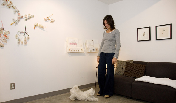 Artscape Wychwood Barns artist Cybele Young in her studio