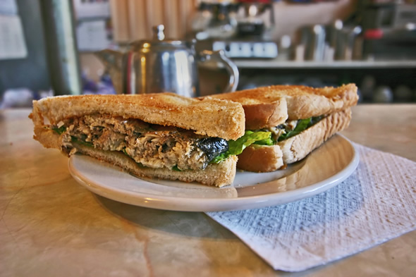 Gale's Snack Bar Sardine Sandwich