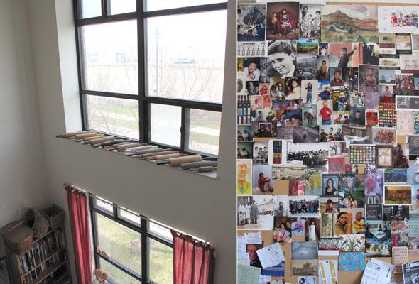 Habitats: studio window & idea board