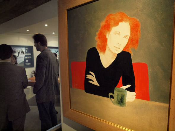 Charles Pachter's famous portrait of Margaret Atwood