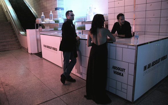Absolut art party in lower Bay station