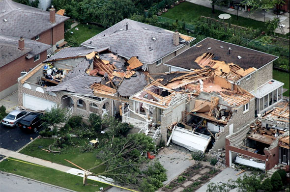 vaughan tornado photos damage
