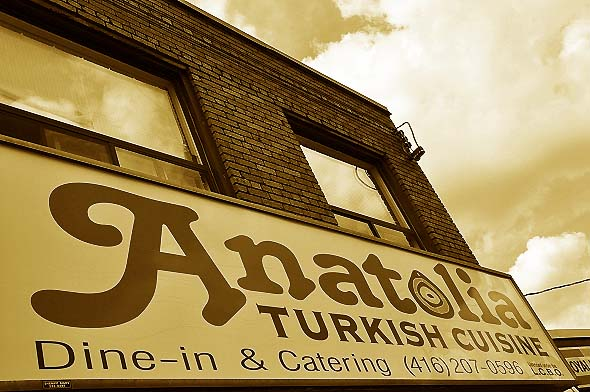 Anatolia Turkish Restaurant Toronto