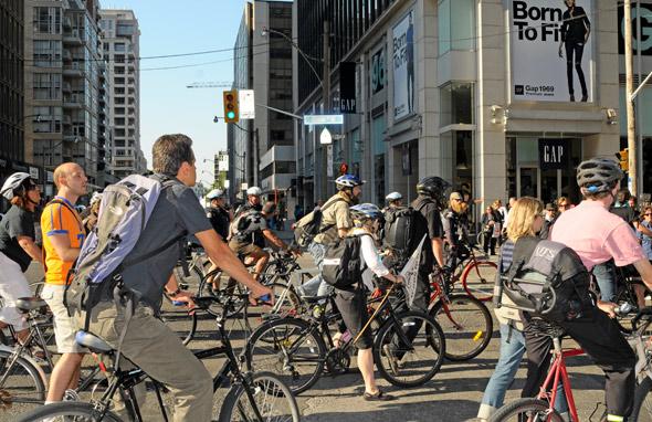 Darcy Allan Sheppard Memorial Bike Ride Protest