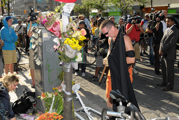 Darcy Allan Sheppard Memorial Bike Ride Protest