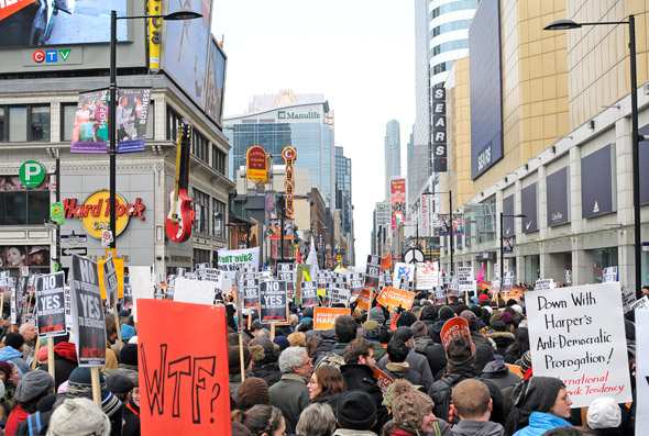 Canadians Against Proroguing Parliament Protest Toronto