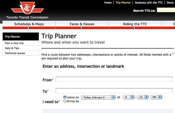 the ttc trip planner goes live. Black Bedroom Furniture Sets. Home Design Ideas