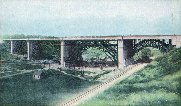 Boolr Viaduct Postcard