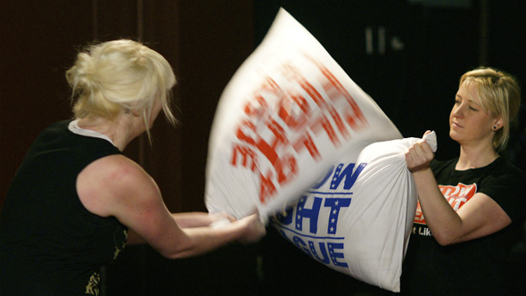 Pillow Fight League tryouts in Toronto