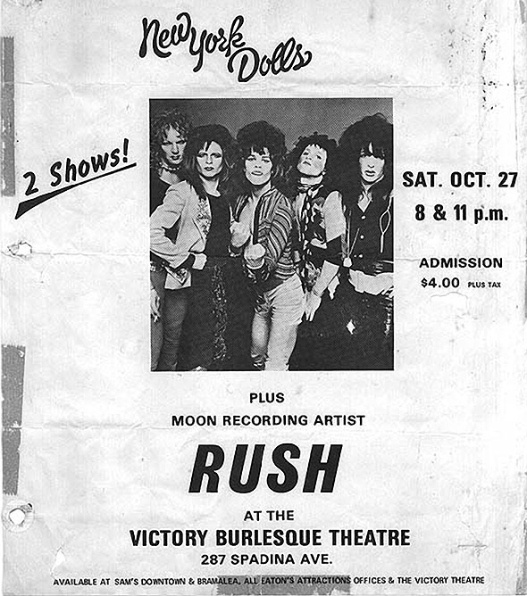 New York Dolls Concert poster