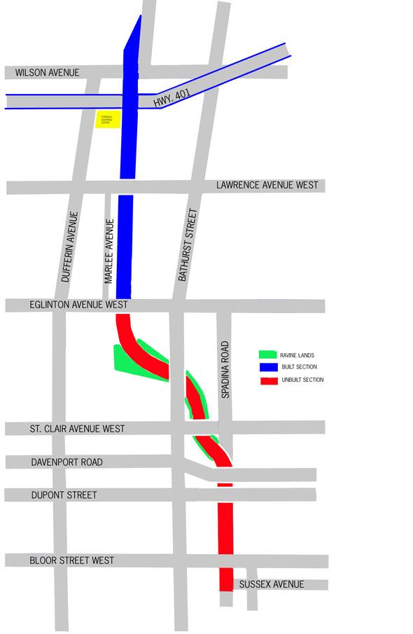 Spadina Expressway plan
